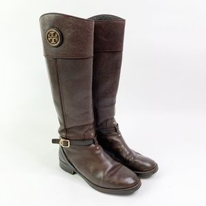 Tory Burch Teresa Riding Boots in Brown 10